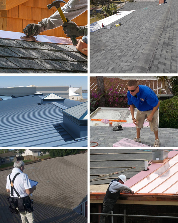 American Quality Roof Repair Collage